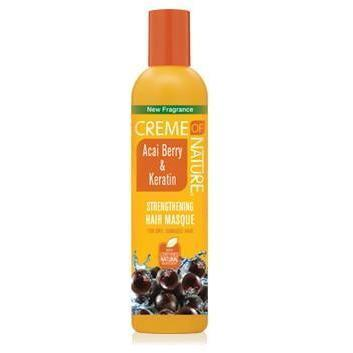 Creme Of Nature Acai Berry & Keratin Strengthening Hair Masque 12 OZ