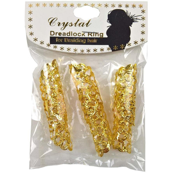 Crystal Hair Braid Tube Jumbo Dreadlock Ring
