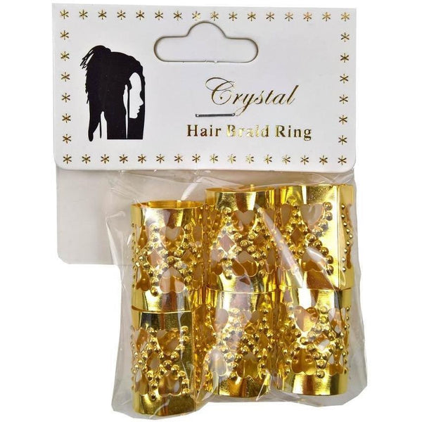 Crystal Hair Braid Tube Jumbo Heart Ring