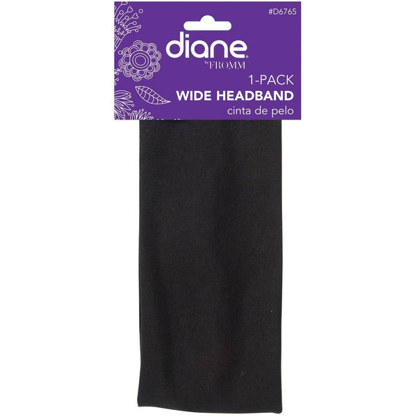 Diane Wide Headband Black #D6765