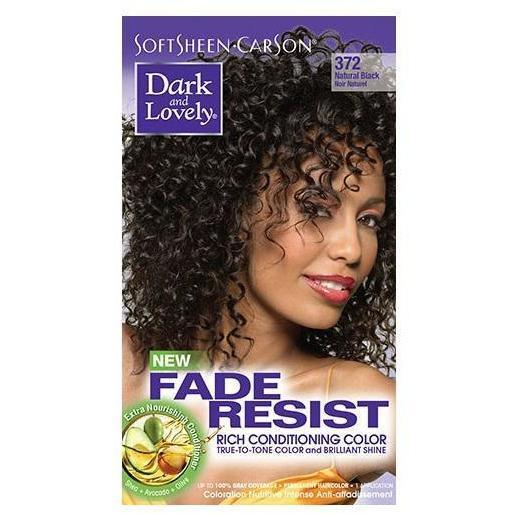 Dark and Lovely Fade Resist Rich Conditioning Color 372 Natural Black