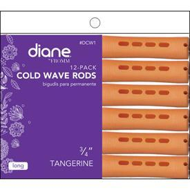 "Diane Cold Wave Rods 3/4"" Tangerine 12PK #DCW1"
