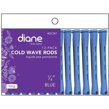 "Diane Cold Wave Rods 1/4"" Blue 12PK #DCW7"