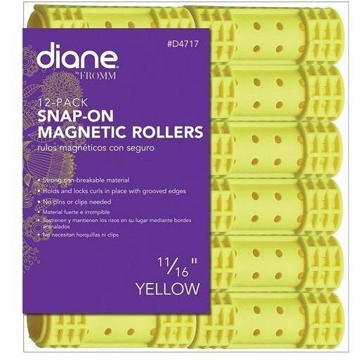 "Diane 11/16"" Snap-On Magnetic Rollers 12-Pack #D4717"