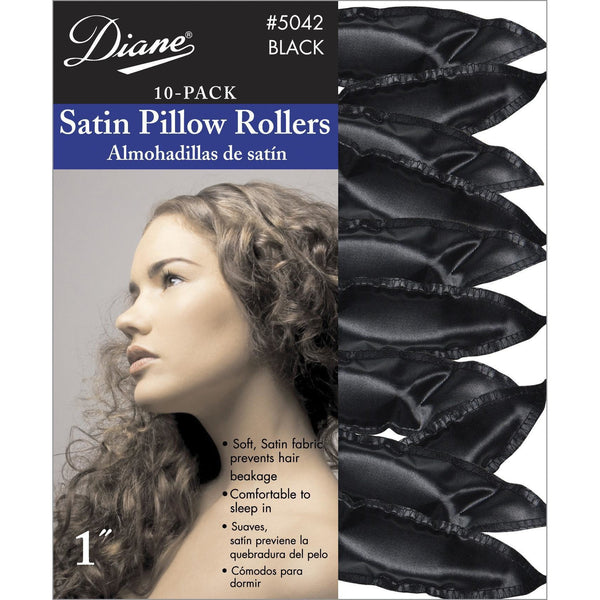 "Diane 1"" Satin Pillow Rollers 10-Pack #5042"