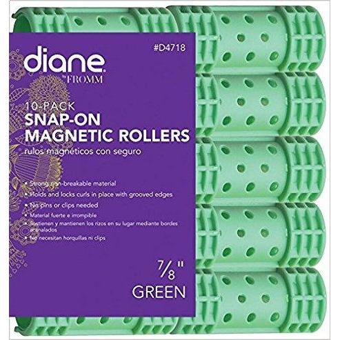 "Diane 7/8"" Snap-On Magnetic Rollers 10-Pack #D4718"