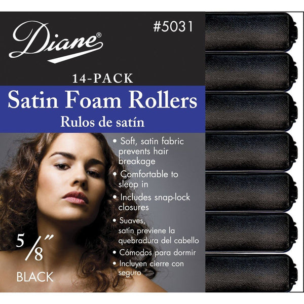 Diane 5/8 Satin Foam Rollers 14-Pack #5031