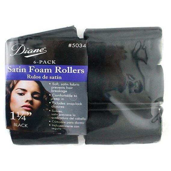 "Diane 1 1/4"" Satin Foam Rollers 6-Pack #5034"