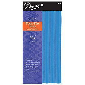 "Diane Twist Flex Rods  7"" Blue 9/16"" 6CT #T4"