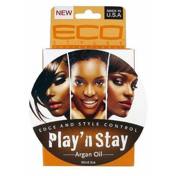Eco Styler Play 'N Stay Edge & Style Control Argan Oil 3 OZ