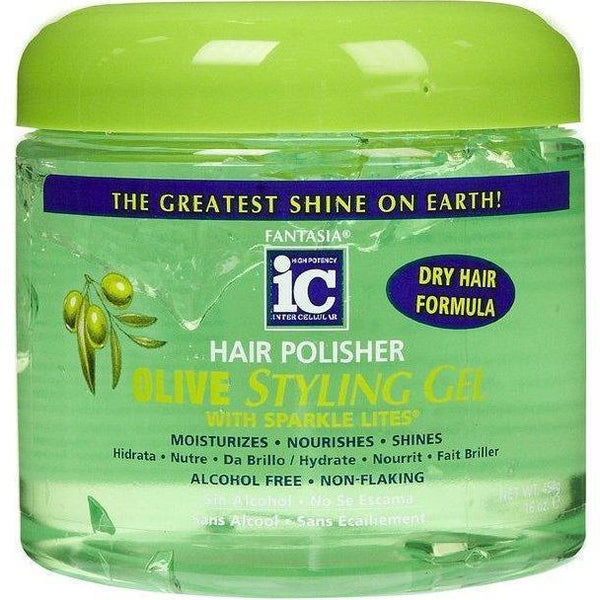 Fantasia IC Hair Polisher Olive Styling Gel 16 oz