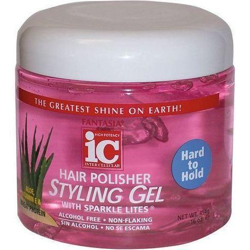 Fantasia IC Hard To Hold Hair Polisher Styling Gel 16 oz