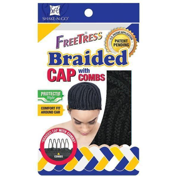 Freetress Braided Cap With Combs – Black