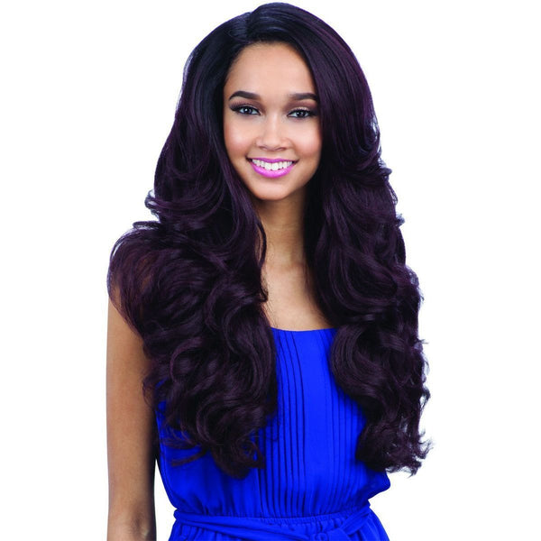 FreeTress Equal Synthetic Lace Front Deep Diagonal Part Wig – Folami