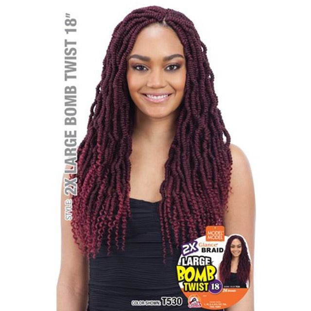 Model Model Synthetic Glance Braids – 2X Large Bomb Twist 18""