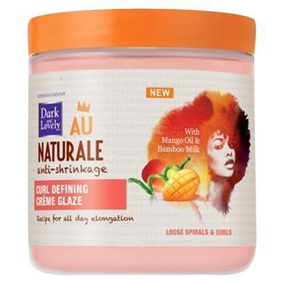 Dark and Lovely Au Naturale Anti-Shrinkage Curl Defining Crème Glaze 14.0 OZ.