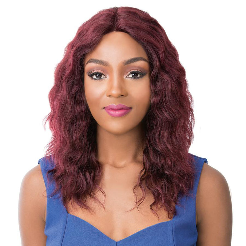 It's A Wig! Human Hair Salon Remi Swiss Lace Front Wig – Wet N Wavy Pacific Wave
