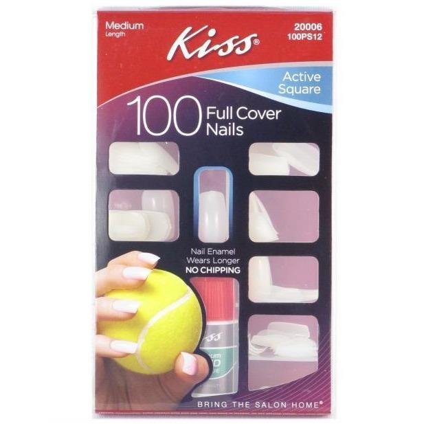Kiss Plain Nail Kit – Active Square 100PS12