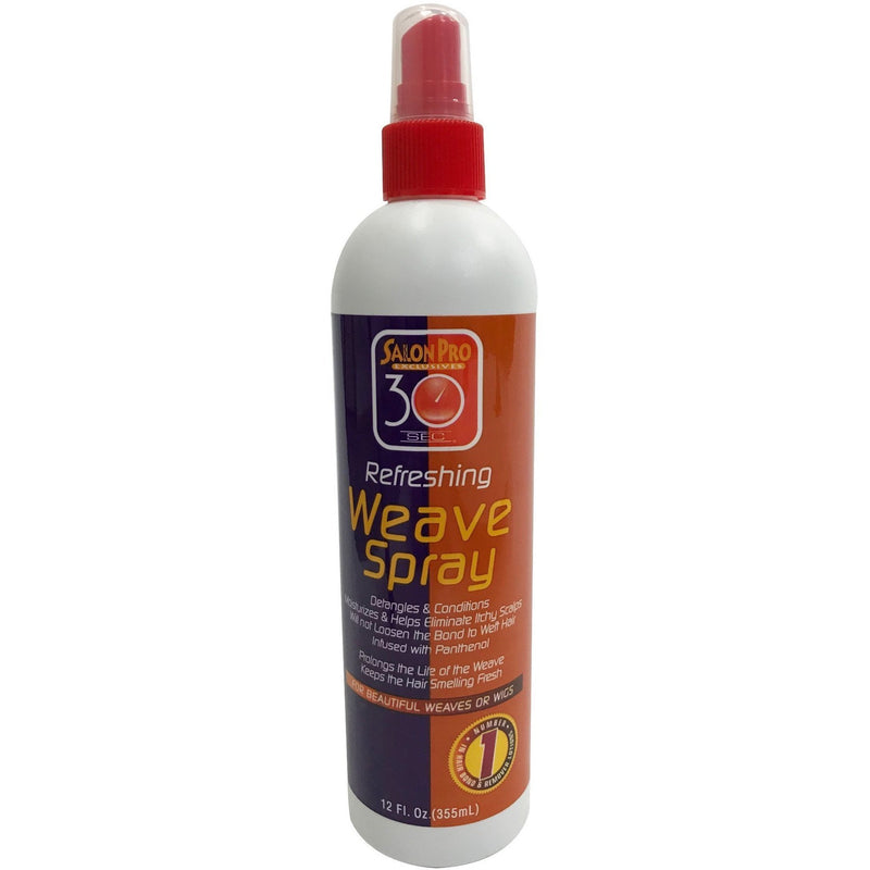 Salon Pro 30 Sec Anti-Bacterial Weave Spray 12 OZ