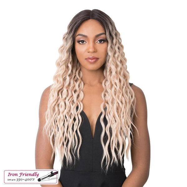 It's A Wig! Soft & Silky Synthetic Swiss Lace Front Wig – Sunflower
