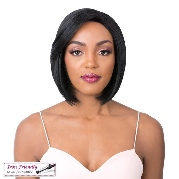 It's A Wig! Soft & Silky Synthetic Swiss Lace Front Wig – Zody