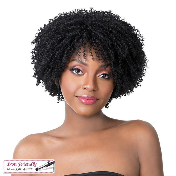 It's A Wig! Iron Friendly Synthetic Wig – Coily Girl