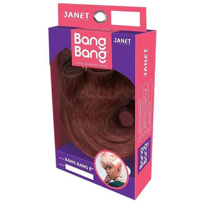 Janet Collection Bang Bang One Pack Solution 100% Human Hair Weave – Bang Bang 8""