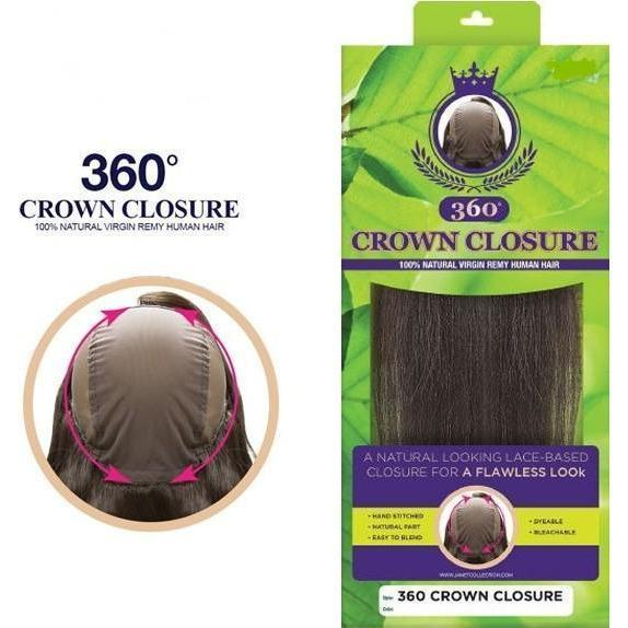 Janet Collection 100% Natural Virgin Remy 360° Closure – Crown Closure