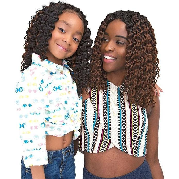 Janet Collection Synthetic Chic 'N Curly Braids – 3X Deep Twist 10""