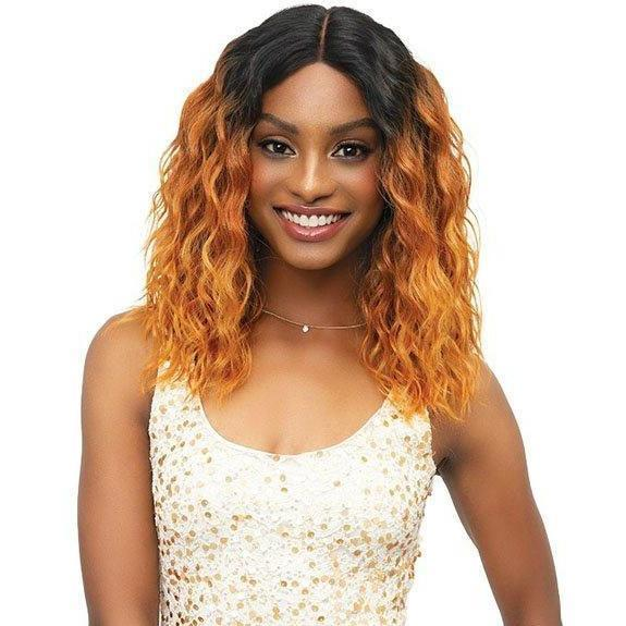 Janet Collection Lace Based Extended Part Synthetic Swiss Lace Front Wig – Campbell