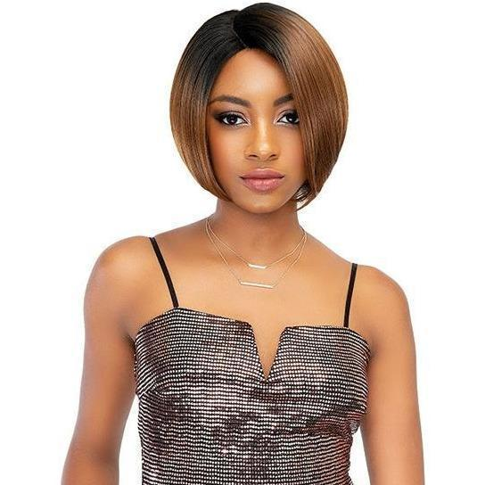 Janet Collection Lace Based Extended Part Synthetic Swiss Lace Front Wig – Eva