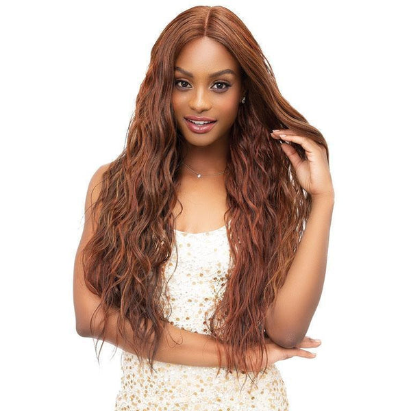 Janet Collection Lace Based Extended Part Synthetic Swiss Lace Front Wig – Michelle