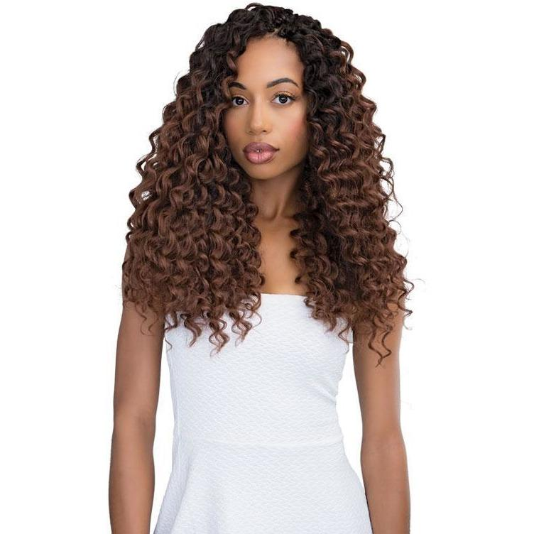 Janet Collection Perm & Natural Texture Synthetic Braids – 2X Peruvian Deep Wave 18""