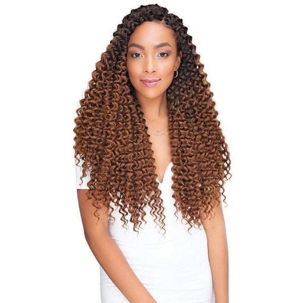 Janet Collection Perm & Natural Texture Synthetic Braids – 2X Peruvian Columbian Curl 18""