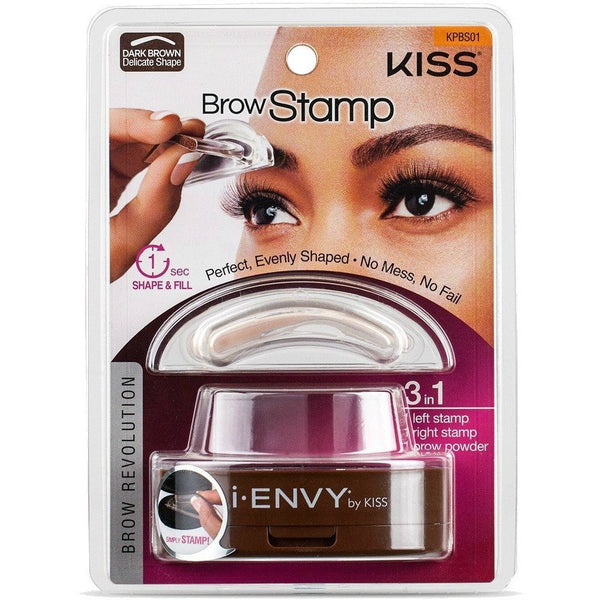 Kiss i-ENVY Brow Stamp – KPBS01 Dark Brown Delicate Shape