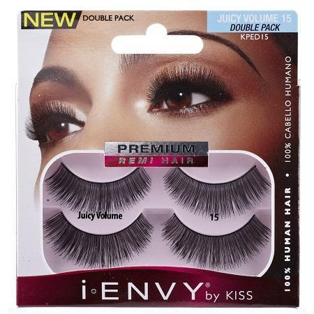 Kiss i-ENVY Lashes Juicy Volume 15 Double Pack KPED15