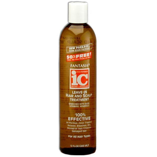 Fantasia IC Leave In Moisturizing Hair And Scalp Treatment 12 oz