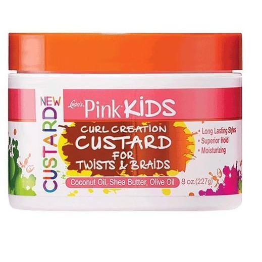 Luster's Pink Kids Curl Creation Custard For Twists & Braids 8 OZ
