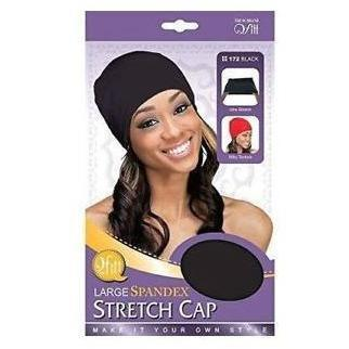 M&M Headgear Qfitt Large Spandex Stretch Cap, Black #172