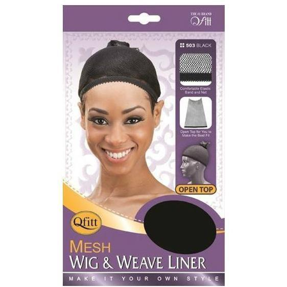 M&M Headgear Qfitt Mesh Wig & Weave Liner Black #503