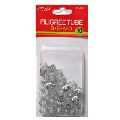 Magic Collection 10MM Silver Filigree Tube #10SIL