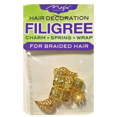 Magic Collection Dangle Leaf Filigree Tube, Gold #FILICHA04GOL