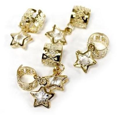 Magic Collection Dangle Star Filigree Tube, Gold #FILICHA05GOL