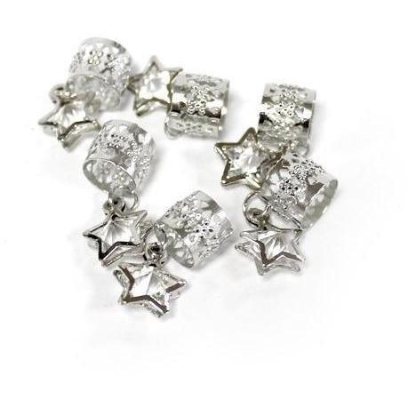 Magic Collection Dangle Star Filigree Tube, Silver #FILICHA05SIL