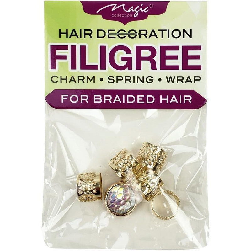 Magic Collection Filigree Tube With Disc Charm, Assorted