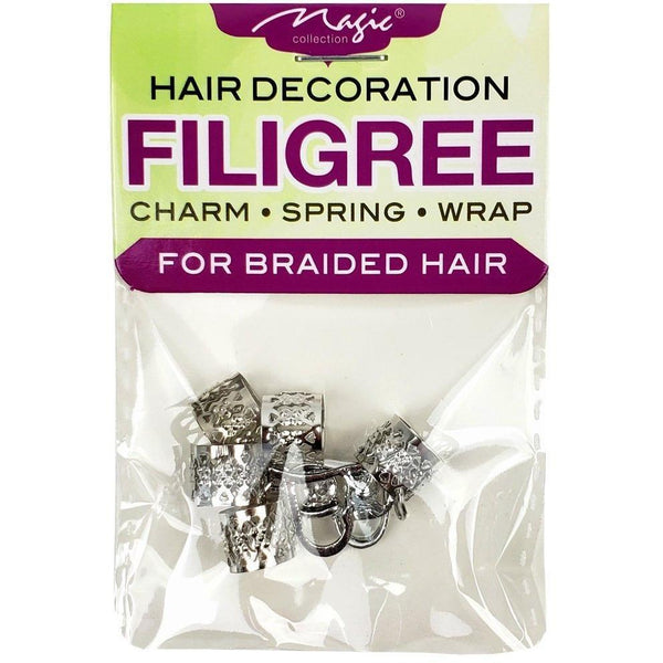 Magic Collection Filigree Tube With Heart Charm, Assorted #FILICHA11