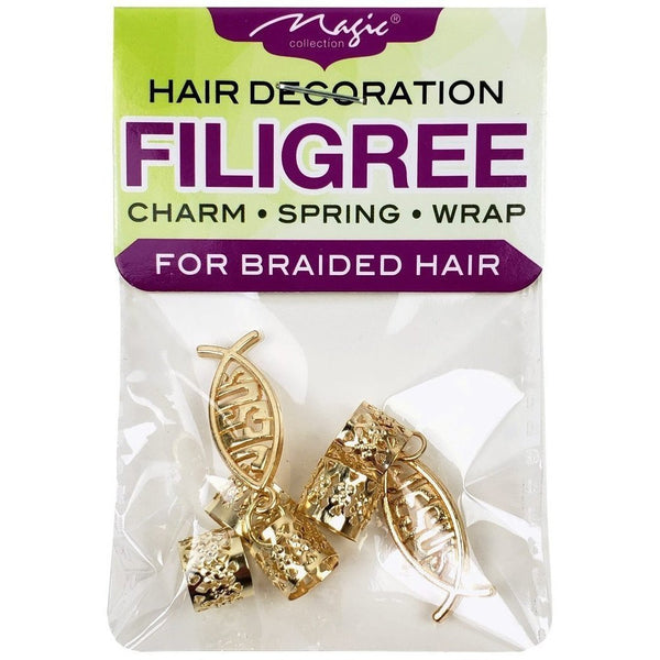 Magic Collection Filigree Tube With Jesus Charm, Gold #FILICHA14