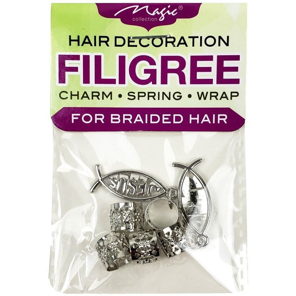 Magic Collection Filigree Tube With Jesus Charm, Silver #FILICHA14