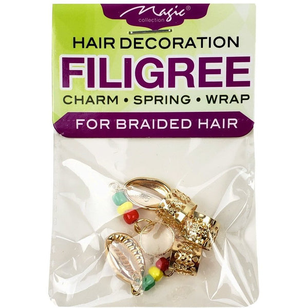 Magic Collection Filigree Tube With Metal Shell Beaded, Gold #FILICHA12