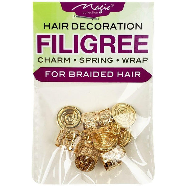 Magic Collection Filigree Tube With Metal Shell Disc, Gold #FILICHA12